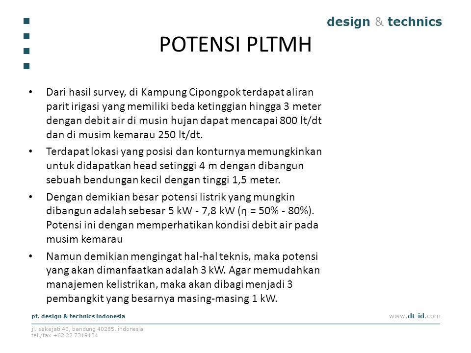 POTENSI PLTMH design & technics