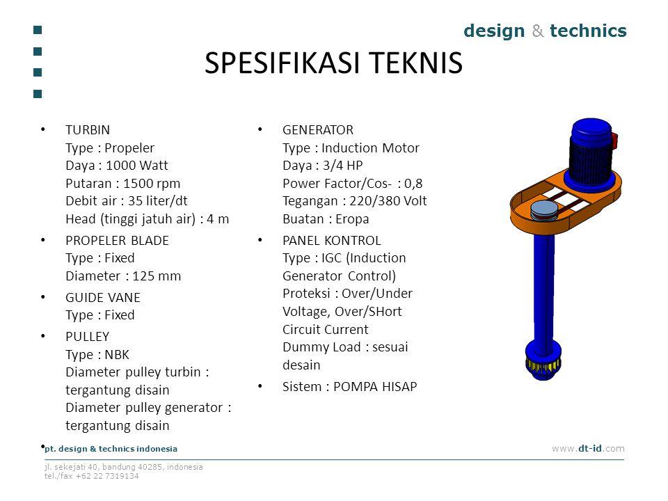 SPESIFIKASI TEKNIS design & technics