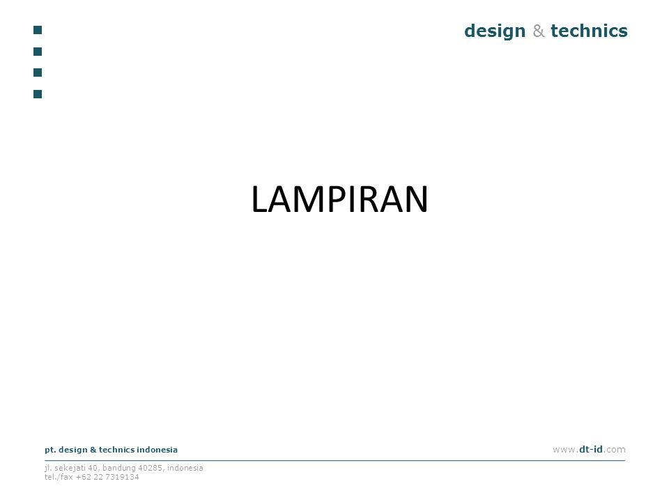 LAMPIRAN design & technics