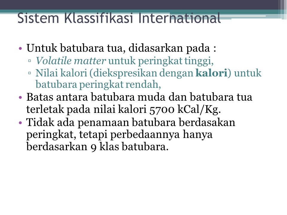 Sistem Klassifikasi International