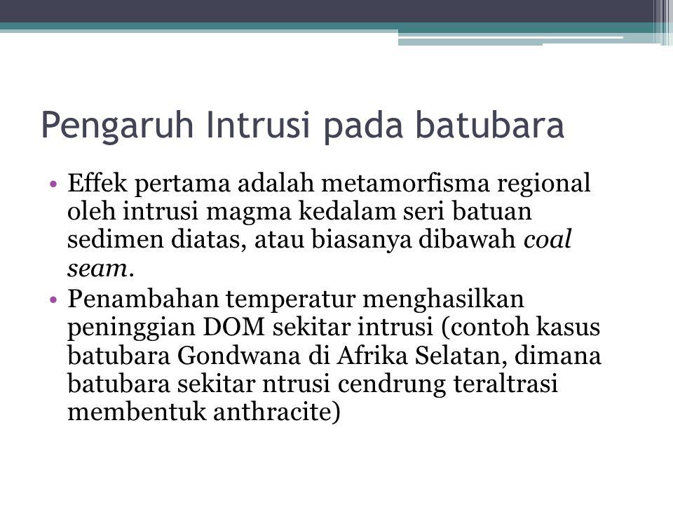Pengaruh Intrusi pada batubara