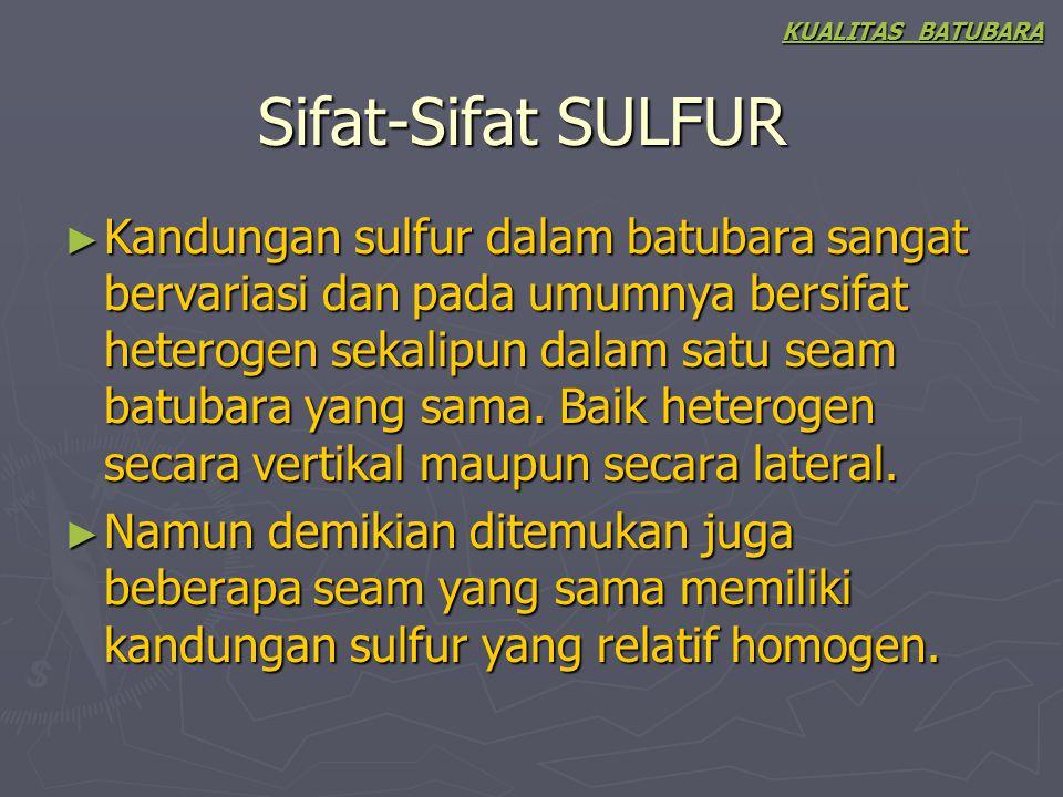 KUALITAS BATUBARA Sifat-Sifat SULFUR.