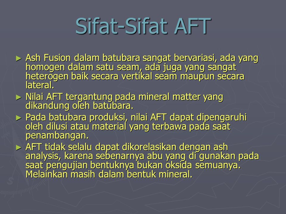 Sifat-Sifat AFT