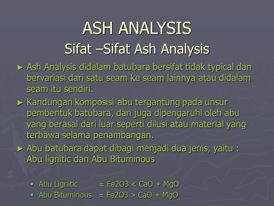 Sifat –Sifat Ash Analysis