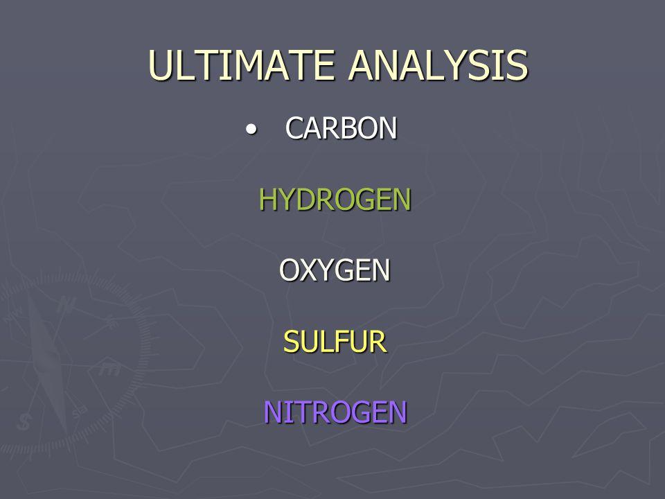 CARBON HYDROGEN OXYGEN SULFUR NITROGEN