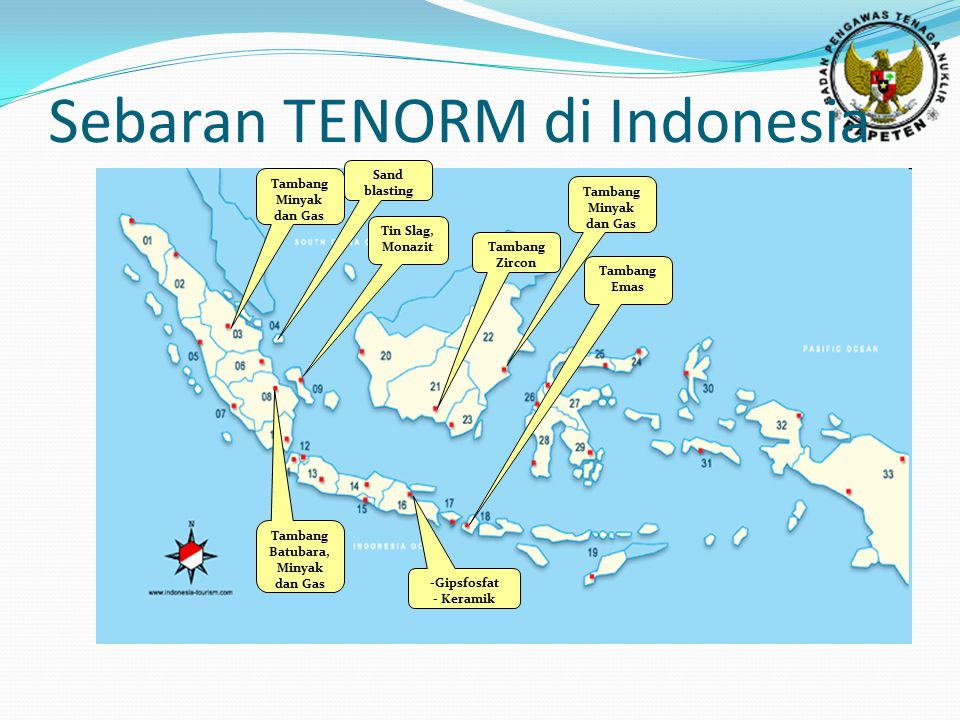 Sebaran TENORM di Indonesia