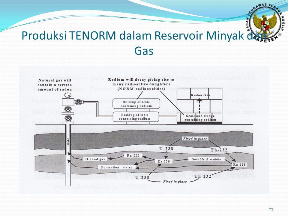 Produksi TENORM dalam Reservoir Minyak dan Gas