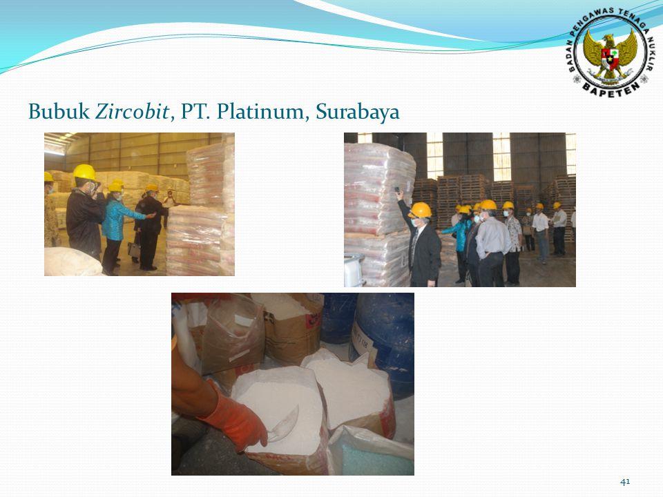 Bubuk Zircobit, PT. Platinum, Surabaya