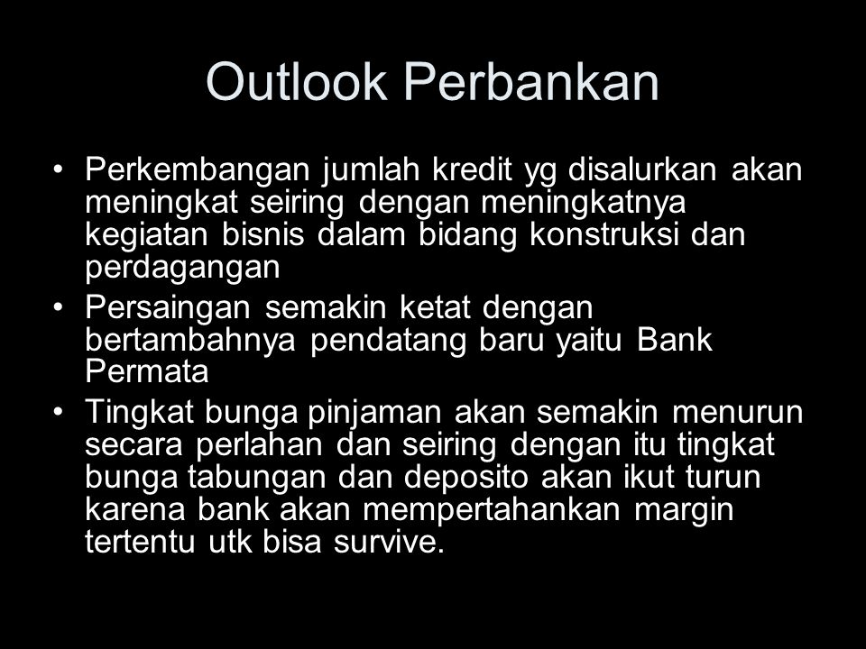 Outlook Perbankan