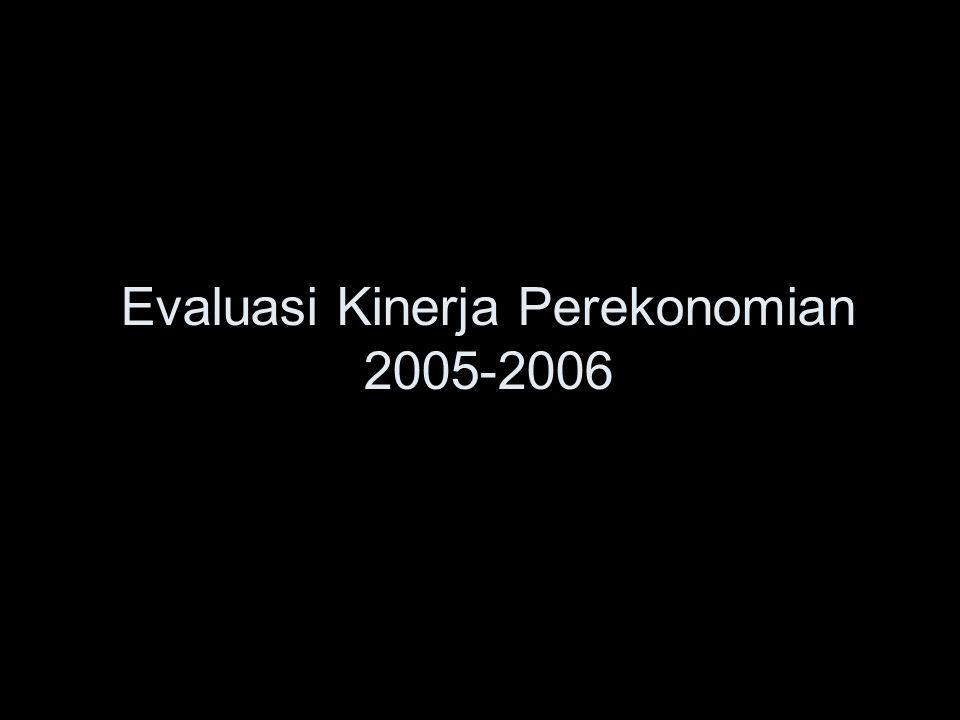 Evaluasi Kinerja Perekonomian 2005-2006