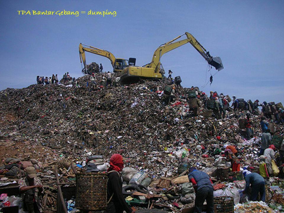TPA Bantar Gebang = dumping