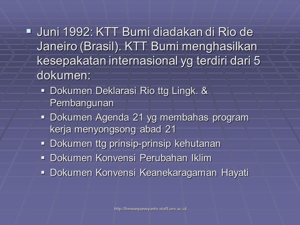 Juni 1992: KTT Bumi diadakan di Rio de Janeiro (Brasil)