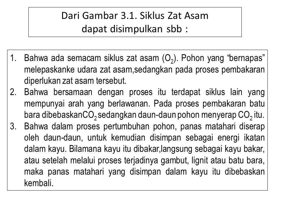 Dari Gambar 3.1. Siklus Zat Asam dapat disimpulkan sbb :