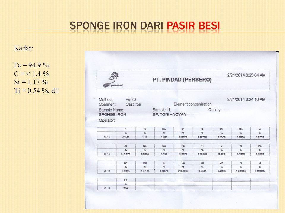 Sponge iron dari pasir besi