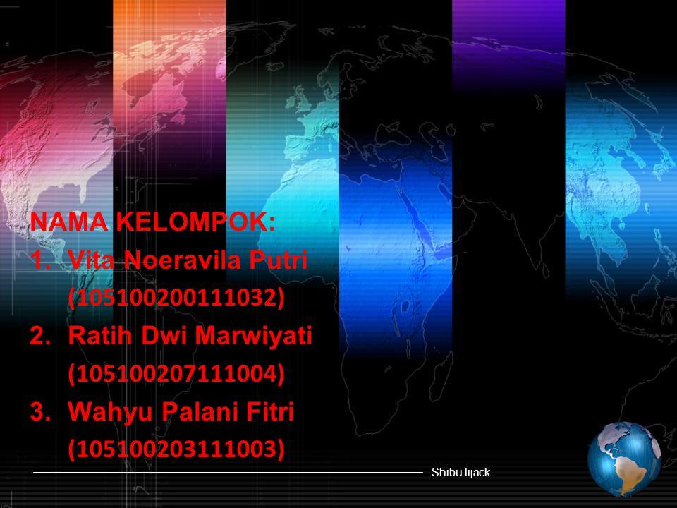 NAMA KELOMPOK: 1. Vita Noeravila Putri. (105100200111032) 2. Ratih Dwi Marwiyati. (105100207111004)