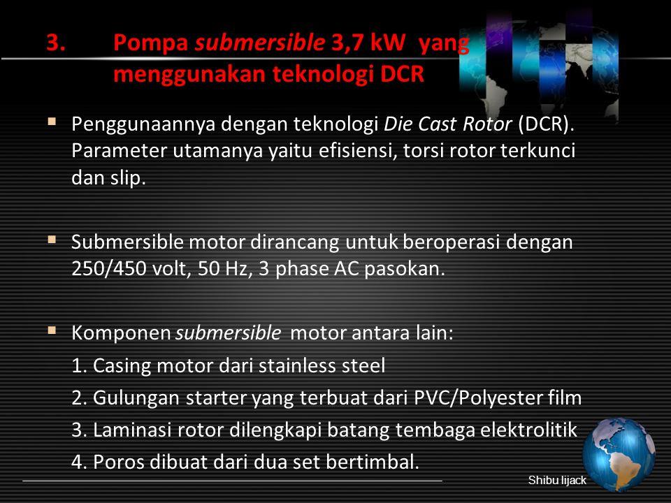 3. Pompa submersible 3,7 kW yang menggunakan teknologi DCR