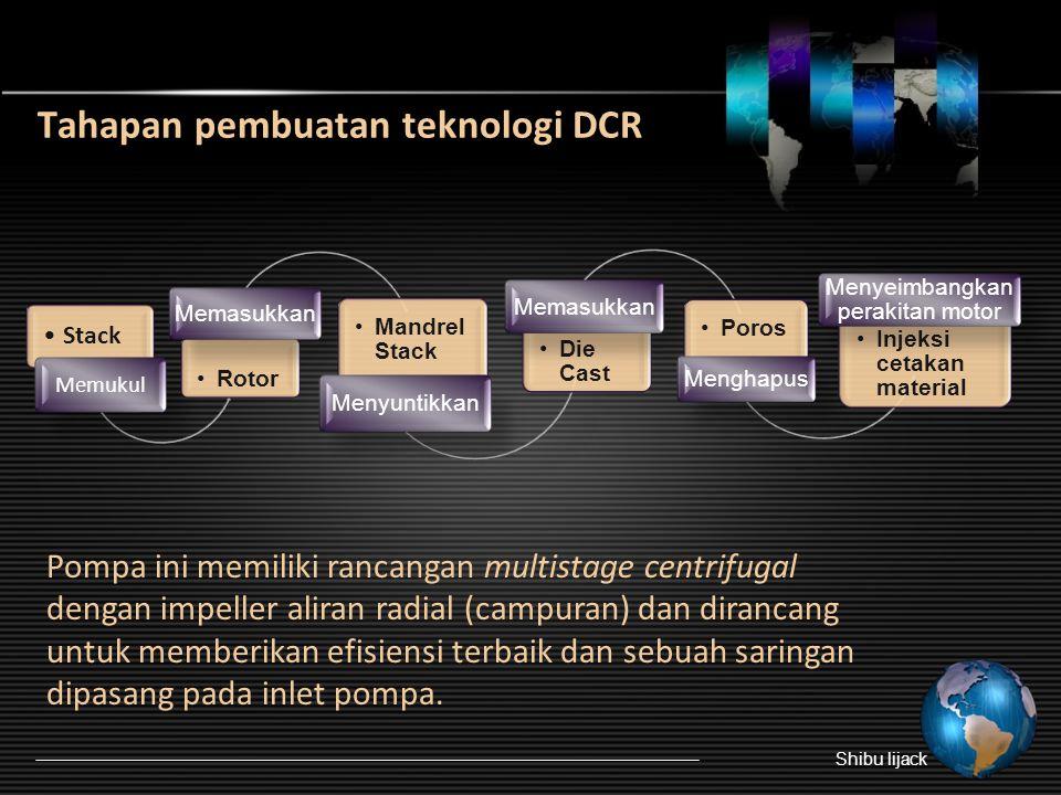 Tahapan pembuatan teknologi DCR