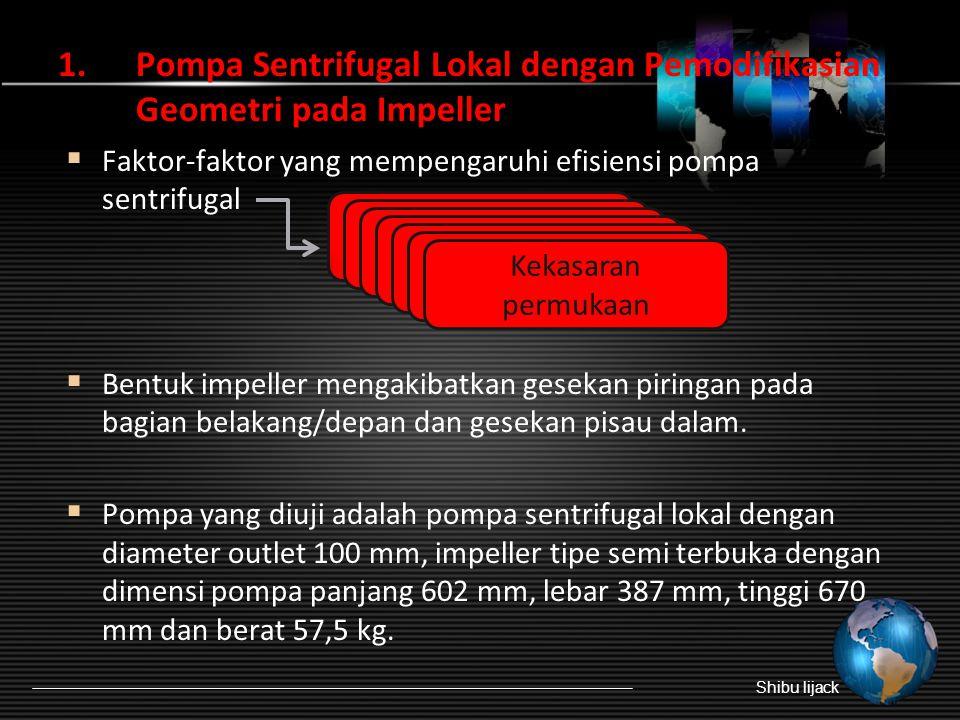 Pompa Sentrifugal Lokal dengan Pemodifikasian Geometri pada Impeller