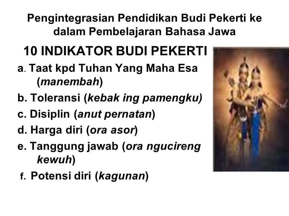 10 INDIKATOR BUDI PEKERTI