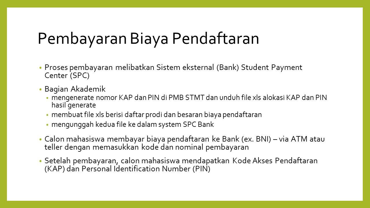 Pembayaran Biaya Pendaftaran