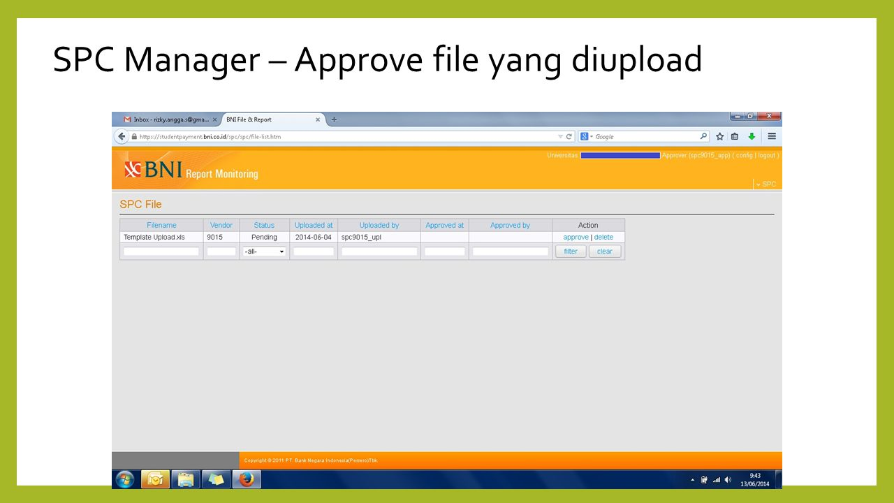 SPC Manager – Approve file yang diupload