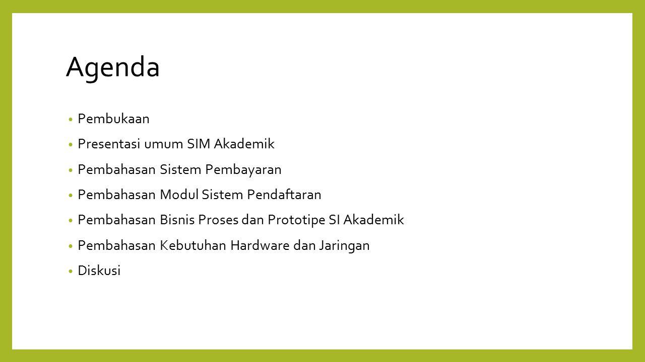 Agenda Pembukaan Presentasi umum SIM Akademik