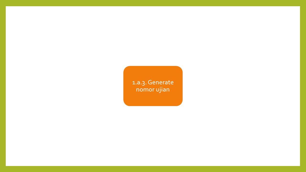 1.a.3. Generate nomor ujian