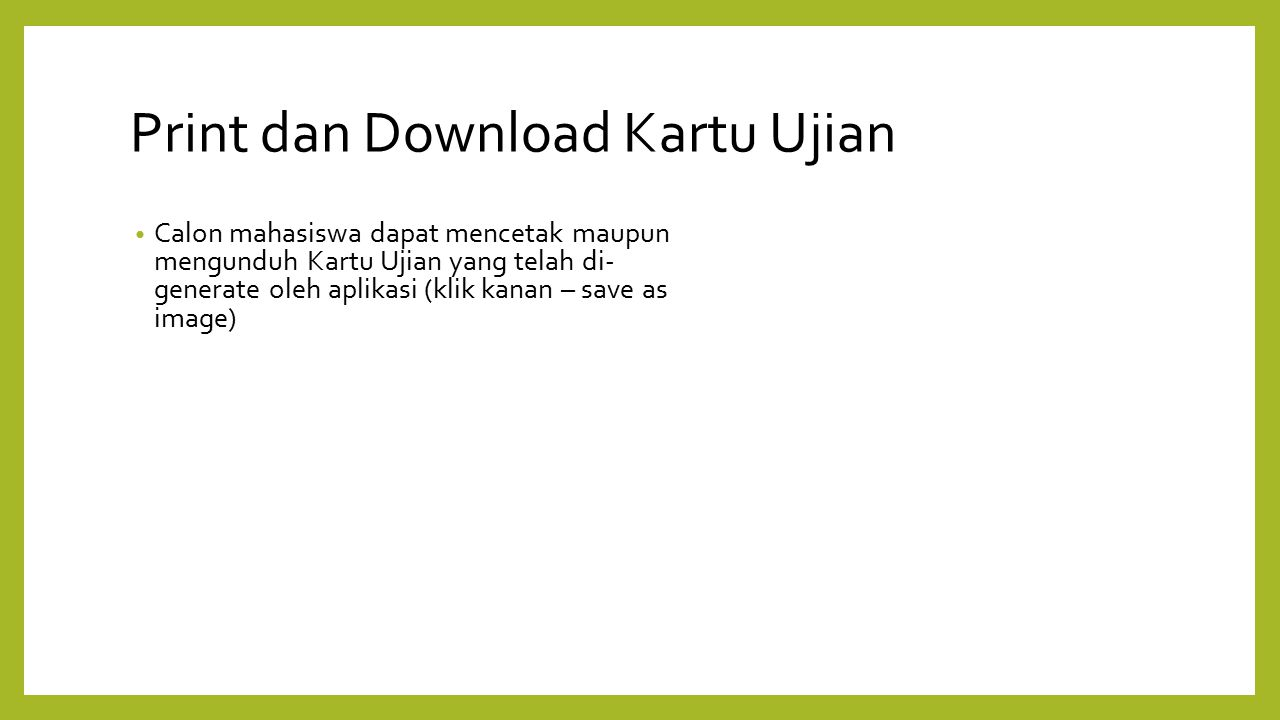 Print dan Download Kartu Ujian