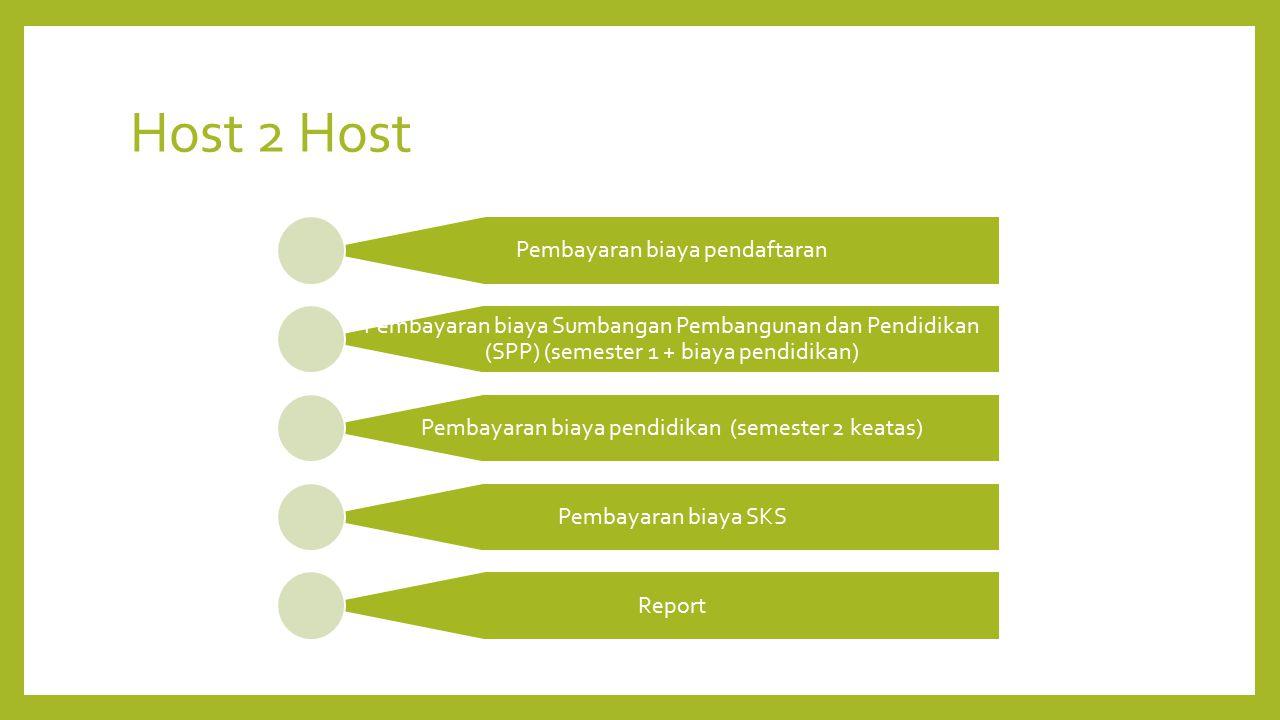 Host 2 Host Pembayaran biaya pendaftaran