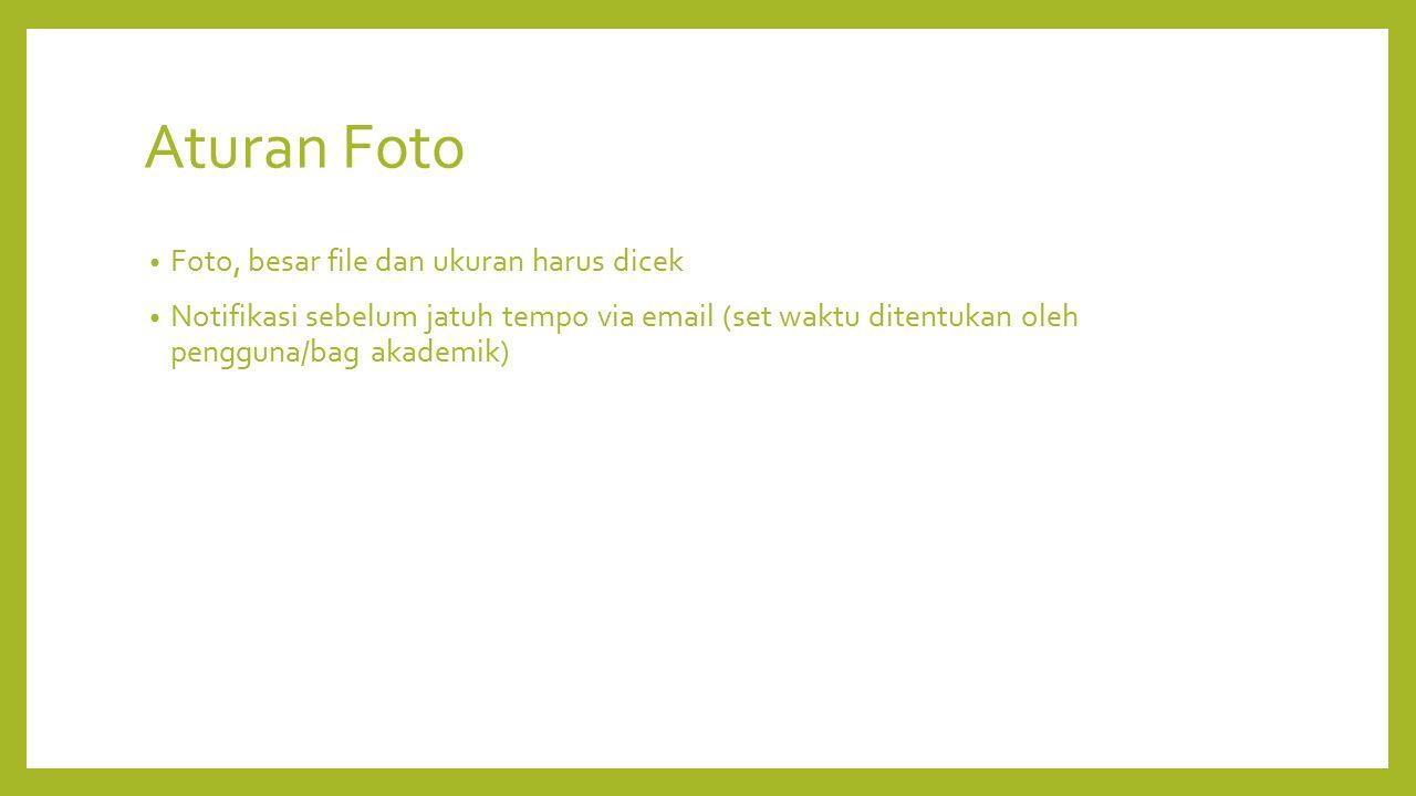 Aturan Foto Foto, besar file dan ukuran harus dicek
