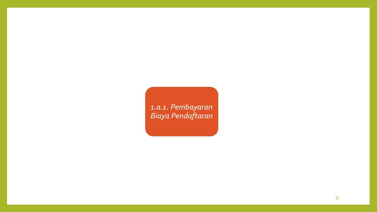 1.a.1. Pembayaran Biaya Pendaftaran