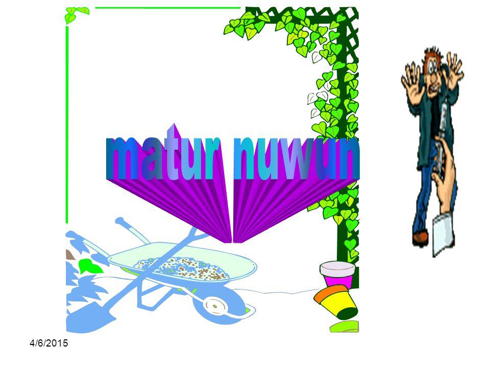 matur nuwun 4/9/2017