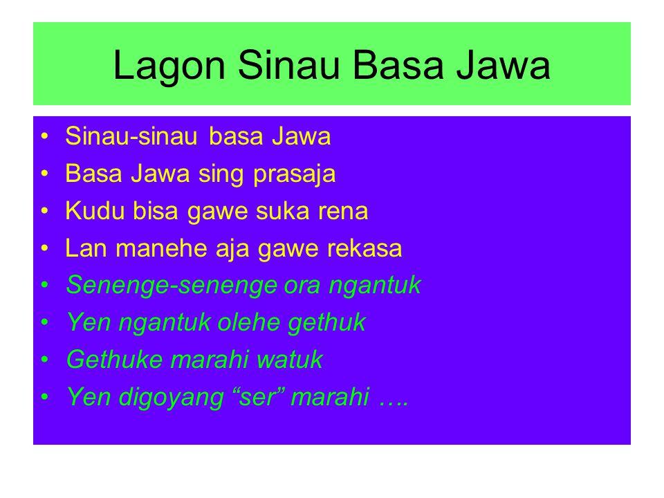Lagon Sinau Basa Jawa Sinau-sinau basa Jawa Basa Jawa sing prasaja