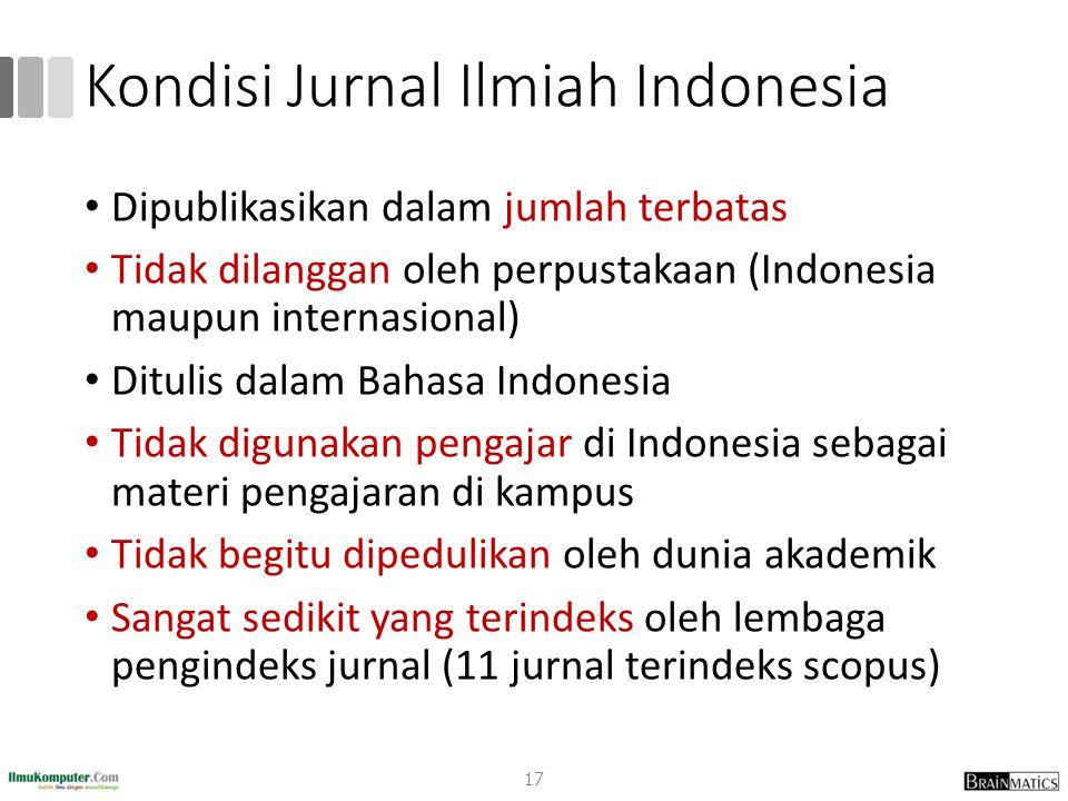Kondisi Jurnal Ilmiah Indonesia