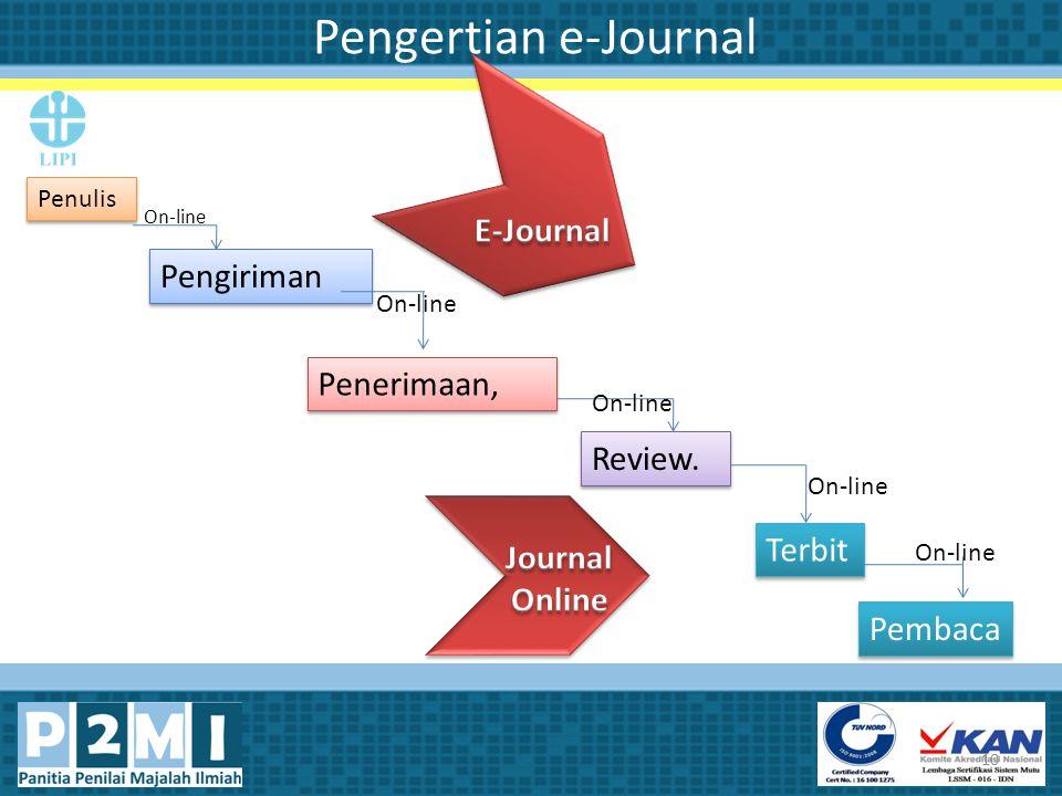 Pengertian e-Journal E-Journal Pengiriman Penerimaan, Review. Terbit