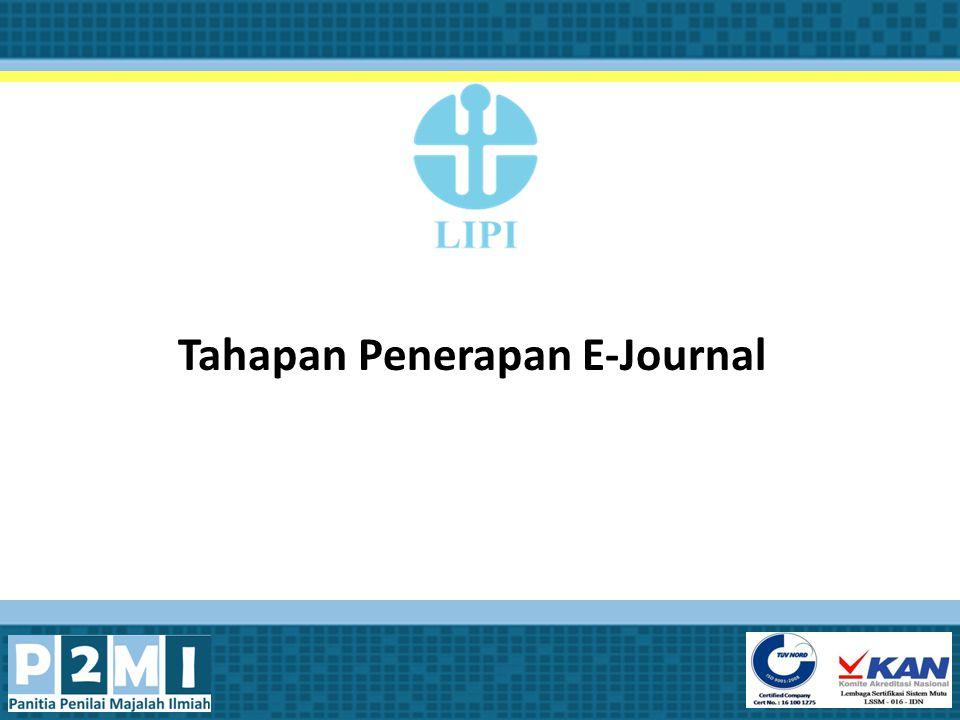 Tahapan Penerapan E-Journal