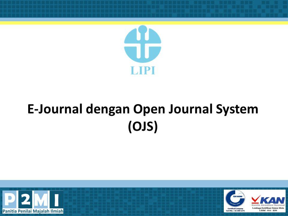 E-Journal dengan Open Journal System (OJS)