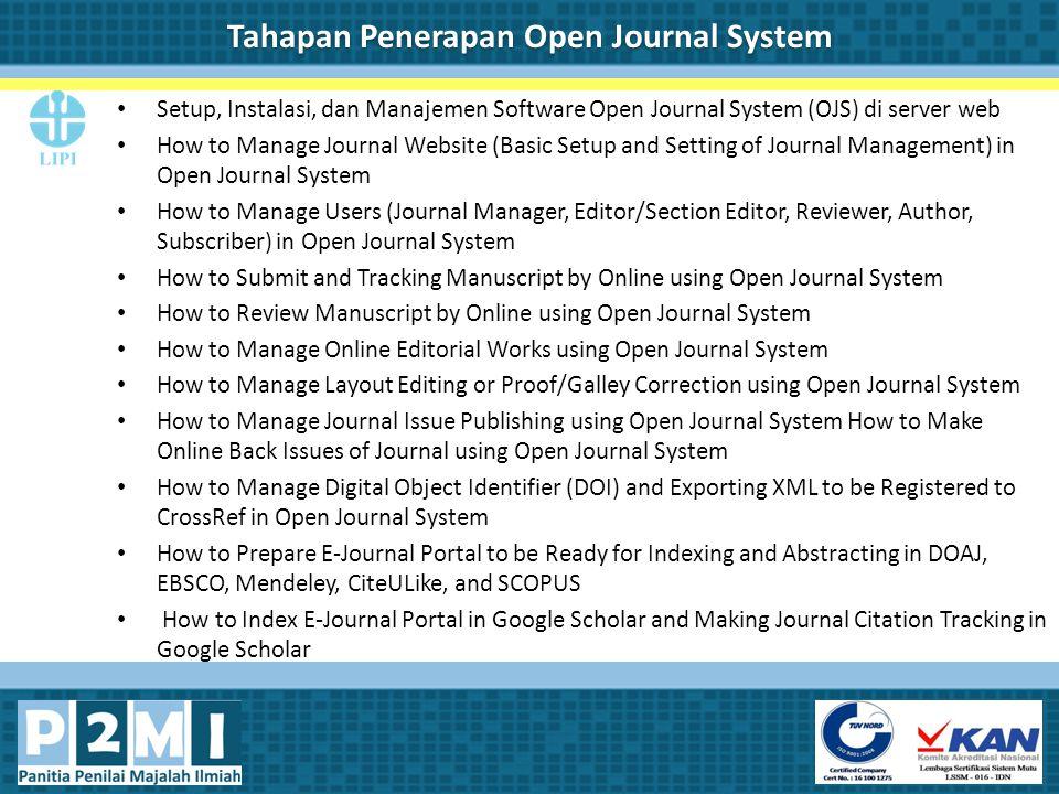 Tahapan Penerapan Open Journal System