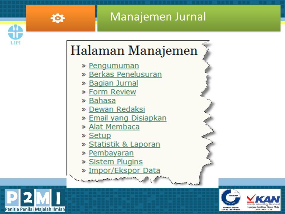 Manajemen Jurnal