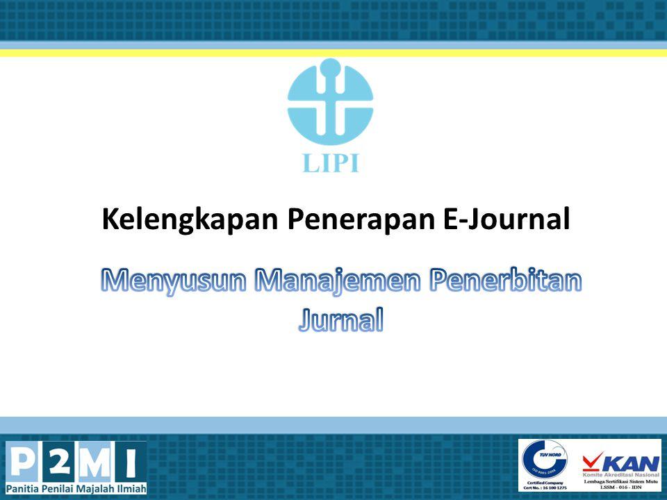 Kelengkapan Penerapan E-Journal