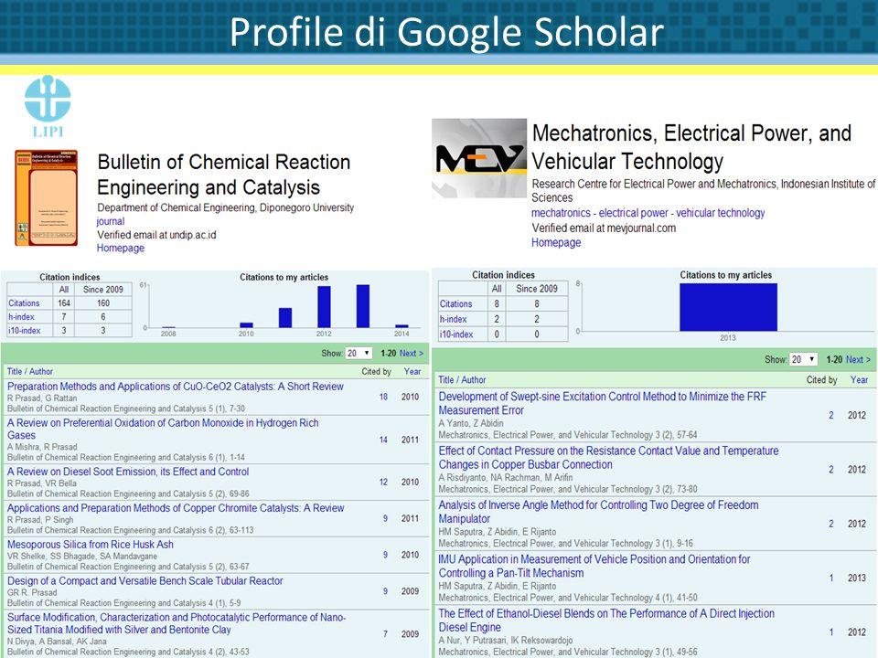 Profile di Google Scholar