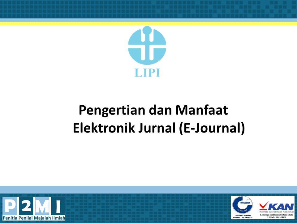 Pengertian dan Manfaat Elektronik Jurnal (E-Journal)