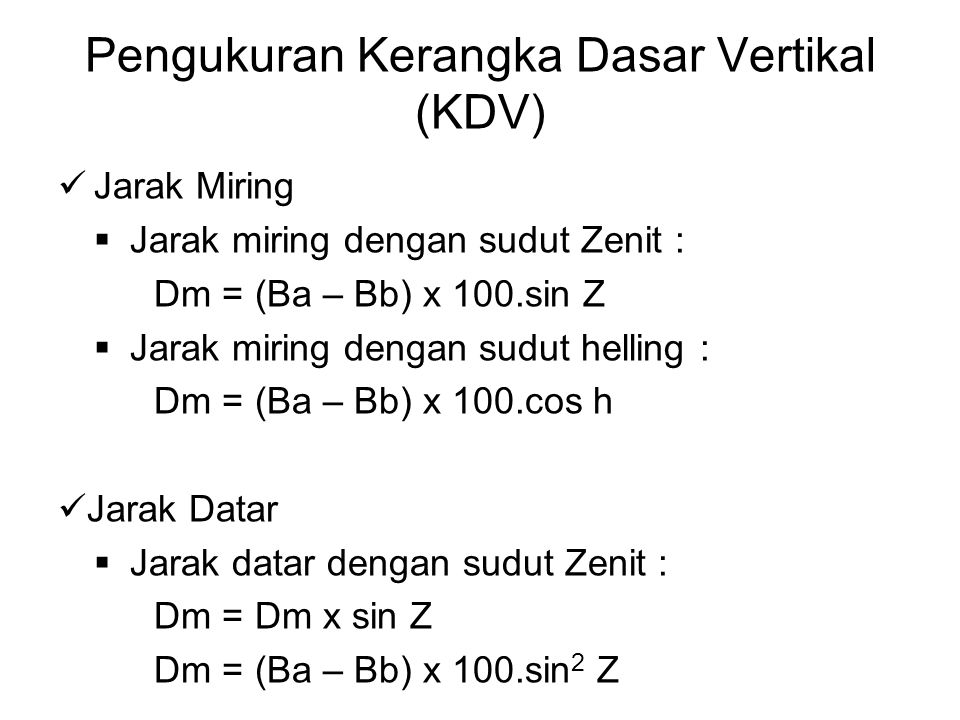 Pengukuran Kerangka Dasar Vertikal (KDV)