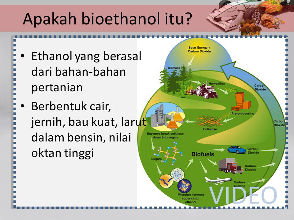 VIDEO Apakah bioethanol itu