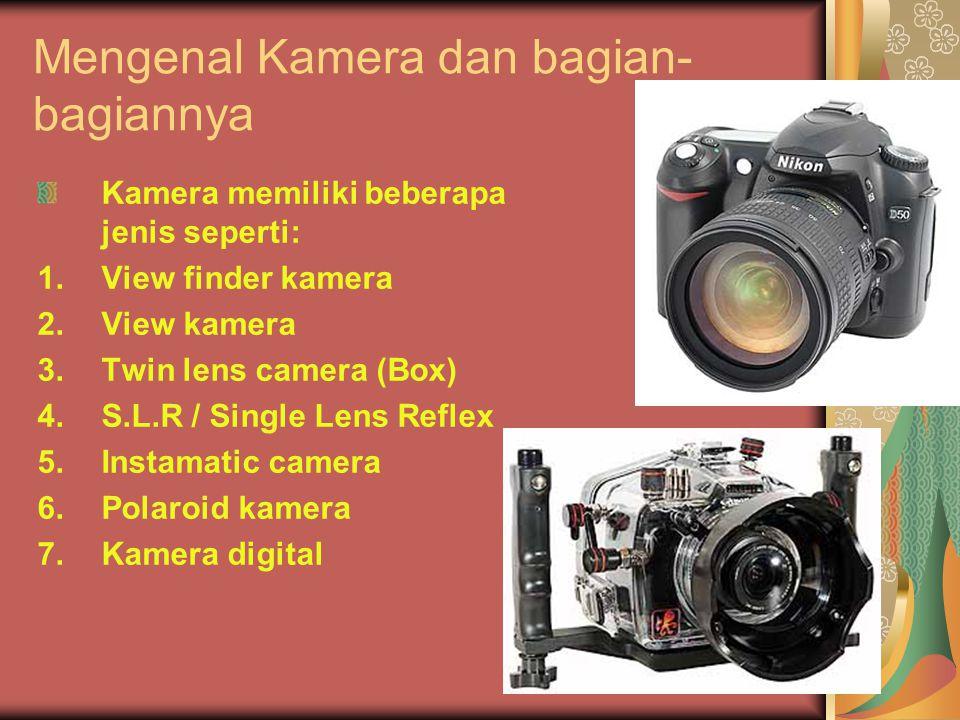 Mengenal Kamera dan bagian-bagiannya
