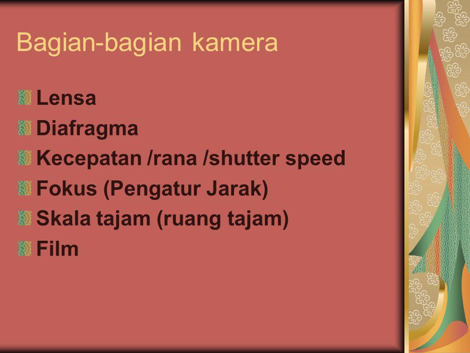 Bagian-bagian kamera Lensa Diafragma Kecepatan /rana /shutter speed