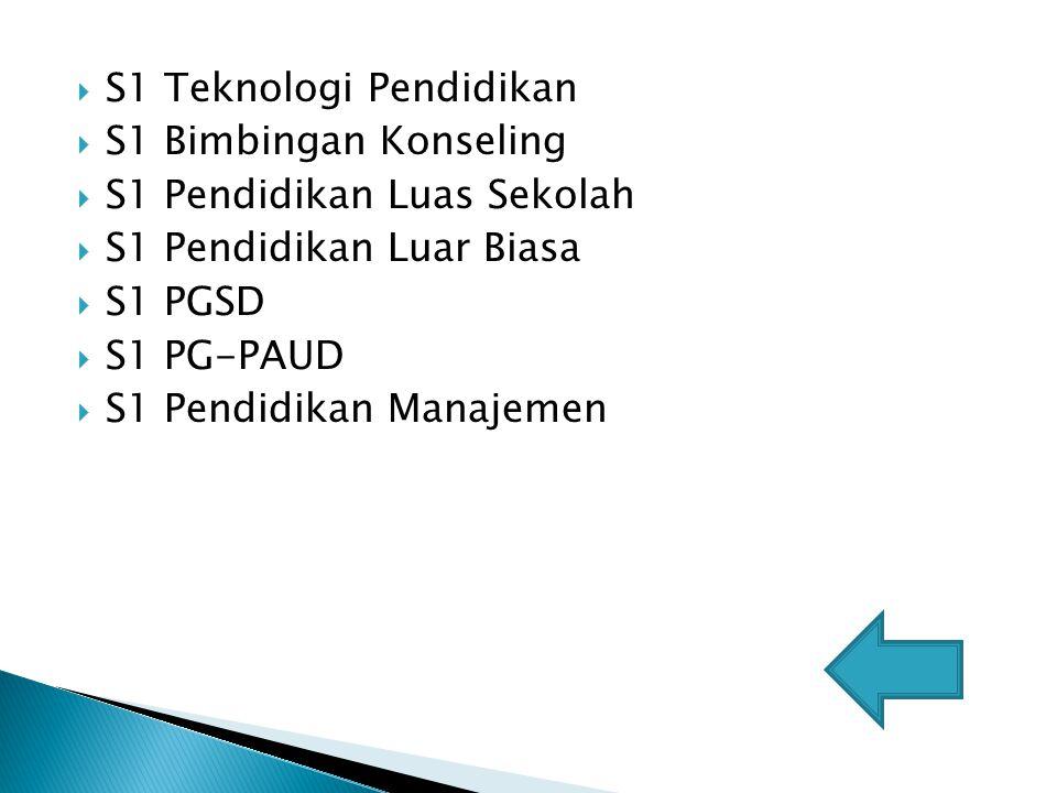 S1 Teknologi Pendidikan