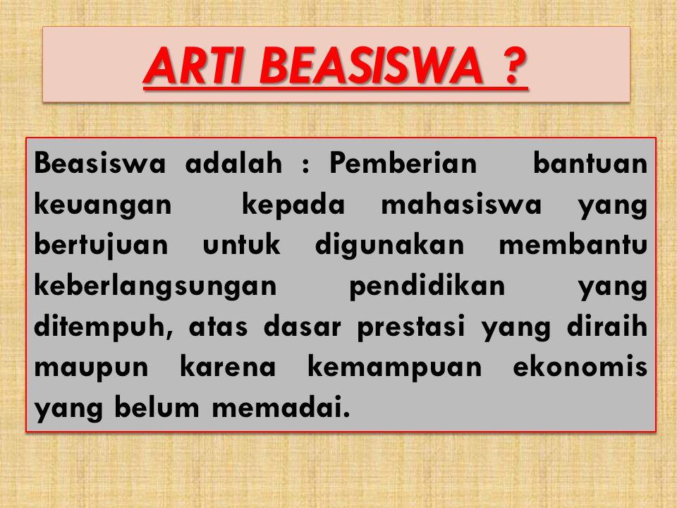 ARTI BEASISWA