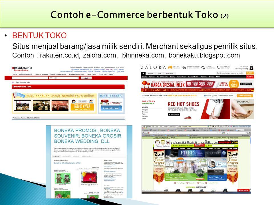 Contoh e-Commerce berbentuk Toko (2)