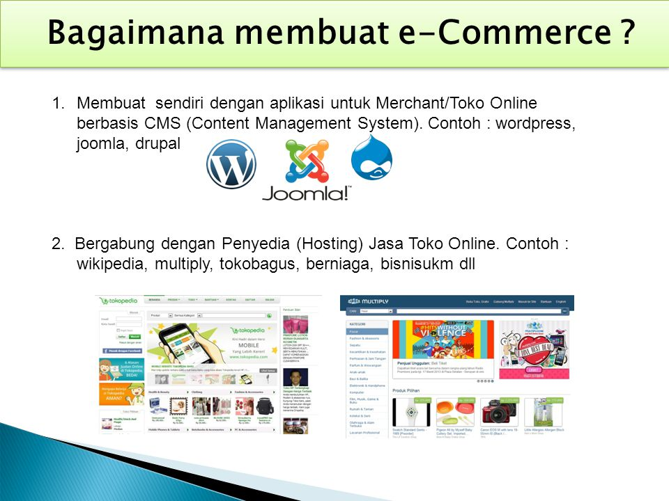 Bagaimana membuat e-Commerce